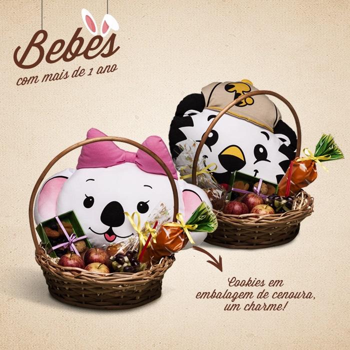 Sugestões criativas de cestas de Páscoa