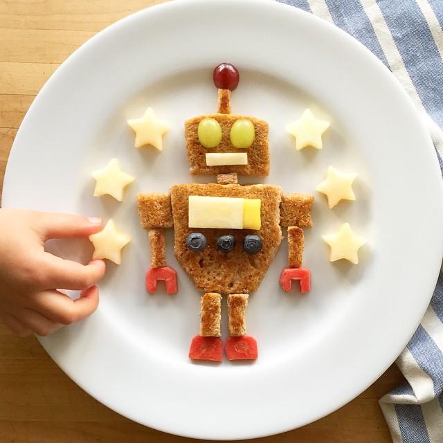 Sanduíche de robô é muito mais legal.