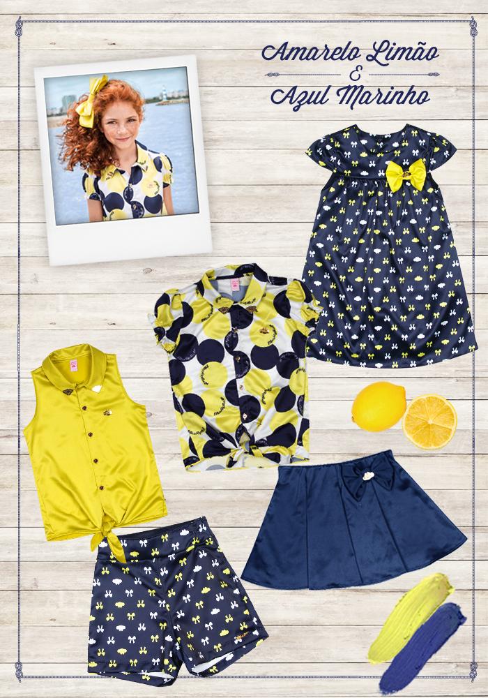 Combinaçao amarelo e azul