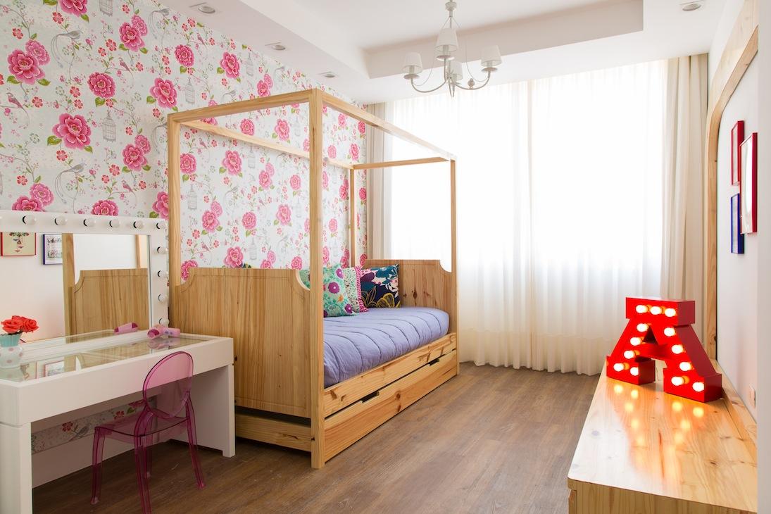 Inspiração floral para quarto de menina